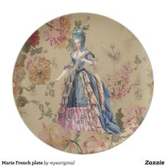 Marie French plate can be purchased on Zazzle.com/mysoriginal.