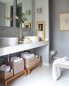 Muebles para Aprovechar el Espacio en el Cuarto de Baño - Para Más Información Ingresa en: http://banosmodernos.com/muebles-para-aprovechar-el-espacio-en-el-cuarto-de-bano/