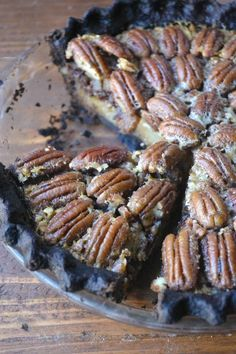 Decadent Black Bottom Pecan Pie - by The View from Great Island  --  http://theviewfromgreatisland.com/2014/11/black-bottom-bourbon-pecan-pie.html