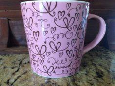 Starbucks 2006 Pink Hearts FLIRT Coffee Mug Cup 17oz Valentines Day Gift Idea