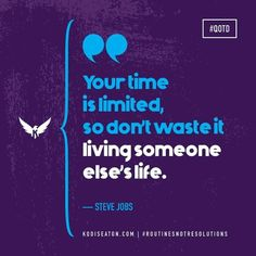 Don't wait, don't waste. Don T Wait, Exercise Motivation, Steve Jobs, Someone Elses, Resolutions, Motivation Inspiration, Routine, Athlete, Health Fitness