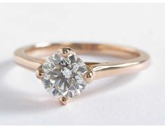 1.28 Carat Diamond East-West Solitaire Engagement Ring | Blue Nile Engagement Rings