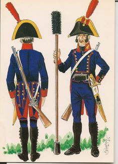 ARTILLEROS - EJERCITO ESPANOL 1808 Empire, Parade Rest, Army Uniform, Napoleonic Wars, Military, Fictional Characters, Image, Stuff Stuff, Military Uniforms