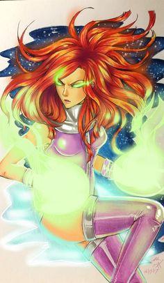Starfire by Morbid-Seraphim on DeviantArt Starfire Dc, Teen Titans Starfire, Teen Titans Go, Comic Character, Character Design, Robin The Boy Wonder, Raven Beast Boy, Comic Book Girl, Fanart