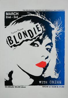 blondie photos 1978 | screenprint blondie poster from 1978,