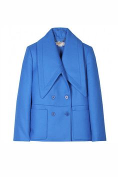 Stella McCartney Wool Jacket with Oversized Collar