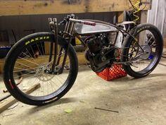 Rat rod motorcycle.
