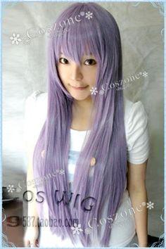 Amazon.co.jp: 今大人気な紫 ストレート 80cm ロングコスプレウィッグ: おもちゃ