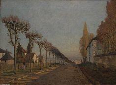 'Die Spur der Maschine', 1873 von Alfred Sisley (1839-1899, France)