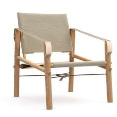 Scaun pliabil din bambus We Do Wood Nomad, bej