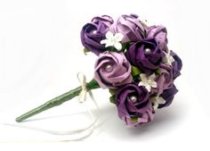 Origami Rose Wedding Bouquet in Purple and Lavender by PearlsAndPaperRoses, $145.00