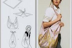 Siamo arrivati al terzo post che raccoglie vari modi di indossare un foulard e io sono sempre più affascinata degli svariati usi che un quadrato di stoffa può assumere. Oggi ve ne propongo degli altri e sono curiosa di sapere se qualcuno di voi ha... Origami Tote Bag, Hermes, Dresses, Headscarves, Fabrics, Vestidos, Dress, Gown, Outfits
