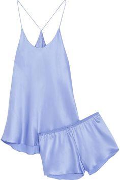 Olivia von Halle | Bella silk-satin pajama set | NET-A-PORTER.COM