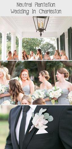 Neutral Plantation Wedding in Charleston - Inspired By This #BridesmaidDressesBoho #BridesmaidDressesPastel #CasualBridesmaidDresses #SilverBridesmaidDresses #BridesmaidDressesSummer