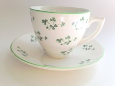 Irish Tea Cup and Saucer Carrigaline Pottery by AprilsLuxuries