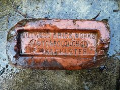Brick Works, Slate, Manchester, England, Victorian, Grey, Gray, Chalkboard, English
