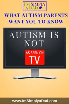 Autism Awareness...What autism parents want you to know. Autism Is Different than what you see on TV.