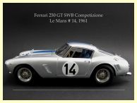 CMC M-079 Modell Ferrari 250 GT SWB Competizione No. 14 Le Mans