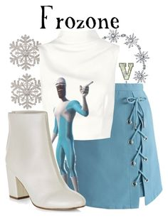 """Frozone (The Incredibles)"" by fabfandoms ❤ liked on Polyvore featuring Bling Jewelry, Anne Klein, Chicwish, Keepsake the Label and New Look"