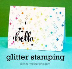 Stamping + glitter video Winnie  walter confetti
