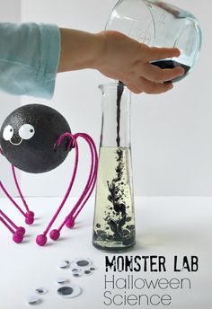 Monster Lab Halloween Science for Kids Monster Lab Fun for Halloween Science for Kids. Create spooky moments of science this halloween to spark their imagination and build their monster sized observation skills
