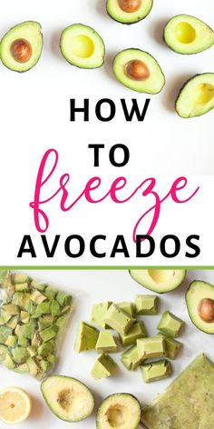 Did you know that freezing avocados seriously works? Here are 4 Ways to Freeze Avocados so you can save loads of money when they're on sale! Freezing Avocados -- 4 Ways to Do It! Avocado Baby Food, Avocado Recipes, Avocado Ideas, Keto Avocado, Freezing Vegetables, Fruits And Veggies, Baby Food Recipes, Mexican Food Recipes, Fruit Recipes