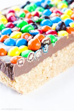 Double Crispy M&M'S Scotcheroos - a perfect blend of crispy and sweet!
