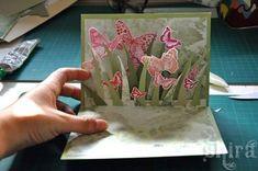 объемная раскладная открытка с бабочками 8