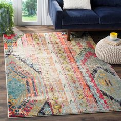 Safavieh Monaco Vintage Bohemian Multicolored Distressed Rug (4' x 5'7) | Overstock.com Shopping - The Best Deals on 3x5 - 4x6 Rugs