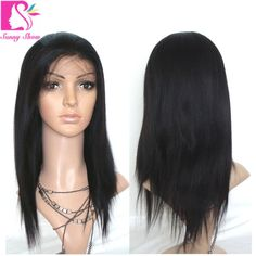 87.72$  Watch here - http://aliy4g.worldwells.pw/go.php?t=32450693928 - Top Quality Peruvian Lace Front Wig Light Yaki Human Hair Wigs Glueless Full Lace Wigs Black Women Cheap Queen Hair Product Wig