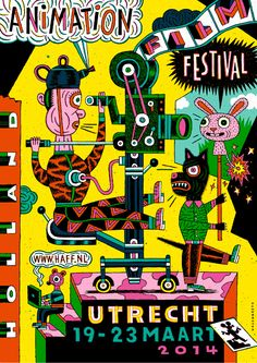Holland Animation Film Festival 2014. Poster by Henning Wagenbreth. Found here.