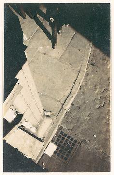 Walker Evans - Street Corner and Pedestrian Seen From El Platform, New York City (1928)