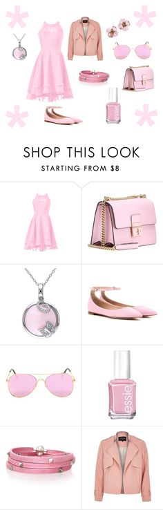 """Light Pink 3"" by issiebop11 ❤ liked on Polyvore featuring Dolce&Gabbana, Amour, Gianvito Rossi, Essie, Sif Jakobs Jewellery, River Island, Chanel, Pink and lightpink"