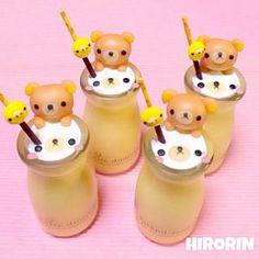 Rilakkuma pudding ♡ #food #rilakkuma #kawaii