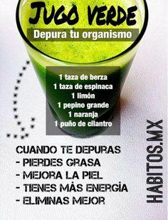 Jugo Verde DEPURA TU ORGANISMO... de habitos.mx