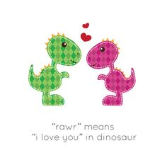 RAWR Dinosaur I Love You  Print File  Valentine's by LiaDiaDesigns, $15.00