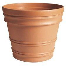 Fiskars 20-6011689 16-Inch Rolled Rim Pot, Color Clay by Fiskars. $16.99. Classic and elegant design. All-weather durability with uv protection. Textured finish looks like natural clay. Thick-walled design. Durable, lightweight resin construction with natural textures and decorative embellishments. Thick walls improve strength for lasting durability. Self-centering trays available. Optional punch-out drainage holes protect against overwatering by allowing excess water ...