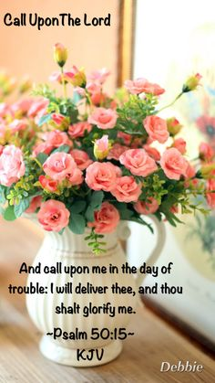 And call upon me in the day of trouble: I will deliver thee, and thou shalt glorify me. Psalm 50:15 KJV