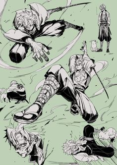 Read Kimetsu No Yaiba / Demon slayer full Manga chapters in English online! Action Pose Reference, Human Poses Reference, Action Poses, Art Poses, Drawing Poses, Manga Drawing, Manga Combat, Samurai Poses, Fighting Drawing