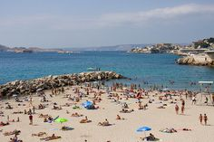 Beach in Marseille, France...swam at the Plage Du Prado everyday.....8 months of the year!!