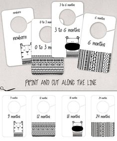 How to make closet dividers - These woodland diy printable baby closet dividers create a great organization in your nursery room. Take a look at more Etsy listings: squaremartshop.etsy.com