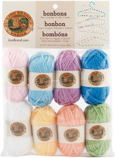 Bonbons Yarn 8/Pkg-Pastels