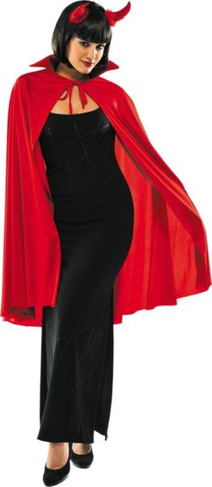 Adult Red Cape Deluxe - Capes Robes - Shop All Categories - Costume Accessories - Halloween Costumes - Categories - Party City  sc 1 st  Pinterest & Sexy Succubus Devil Female Demon Red Hot Lingerie Lace Teddy Vampire ...