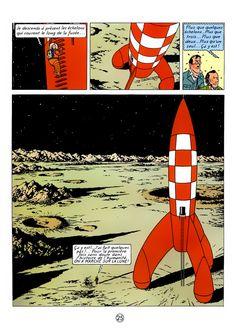 tintin in explorers on the moon • Tintin, Herge j'aime