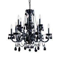 Crystal Chandelier Black, $949, now featured on Fab. #Crystorama