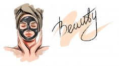 Beautiful Woman With Facial Mask. Beauty Art, Diy Beauty, Skin Care Spa, Iphone Background Wallpaper, Charcoal Mask, Beauty Studio, Instagram Highlight Icons, Facial Masks, Cosmetology