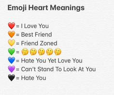 This is what all of the emoji hearts mean Bff Quotes, I Love You Quotes, Truth Quotes, Love Yourself Quotes, Mood Quotes, Emojis And Their Meanings, Emojis Meanings, Snapchat Questions, Instagram Story Questions