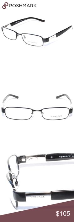 bdc567421a0 Versace Eyeglasses 1121 1009 53 17 Black Metal Brand new 100% authentic Versace  Eyeglasses