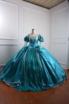 Blue Ariel Dress - Little Mermaid Costume - Ariel adult costume 💋💋💋Costume will take 3 week for done . And day for shipping . ❤️❤️❤️For Alice Costume we need measurement numbers from measurement chart listing : . Princess Ball Gowns, Disney Princess Dresses, Cinderella Dresses, Princess Costumes, Disney Dresses, Princess Wedding, Pageant Dresses, Quinceanera Dresses, 15 Dresses