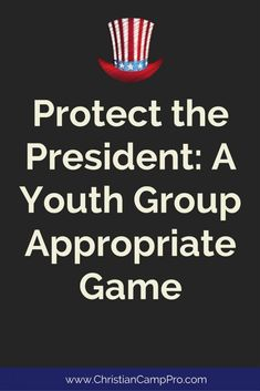 Protect the President – A youth group appropriate game – Christian Camp Pro - youth game Youth Games Indoor, Indoor Group Games, Outdoor Games, Outdoor Toys, Youth Group Activities, Youth Groups, Youth Group Events, Teen Activities, Church Activities